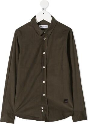 Paolo Pecora Kids Dark Green Shirt