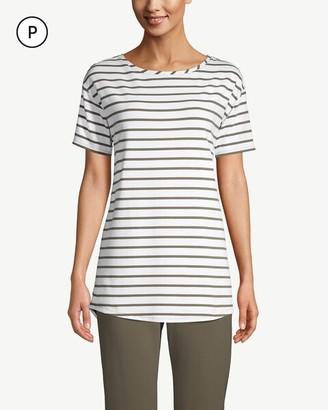 Zenergy Petite Striped Pima Cotton Tunic