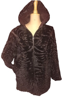 Astrakhan 32 Paradis Sprung Freres \N Burgundy Leather Jacket for Women