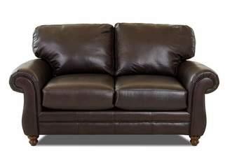 "Wayfair Custom Upholsteryâ""¢ Spiers Leather Loveseat Wayfair Custom Upholsteryâ""¢"