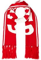 River Island MensRed snow board word scarf