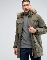 Jack and Jones Parka with Fur Hood