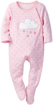 Sterling Baby Star & Cloud Double Knit Footie (Baby Girls)