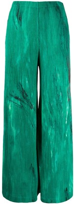 Avant Toi Textured Wide-Leg Trousers