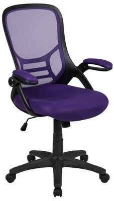 Ebern Designs Layman High Back Ergonomic Mesh Executive Chair Upholstery Color: Purple
