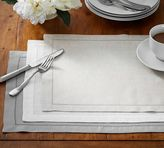 Pottery Barn PB Classic Belgian Flax Linen Hemstitch Placemat, Set of 4