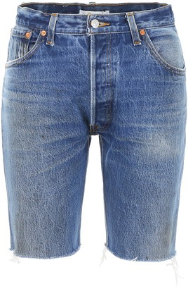 RE/DONE Long Frayed Hem Shorts