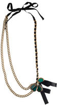 Marni Woven Chain Flower Necklace