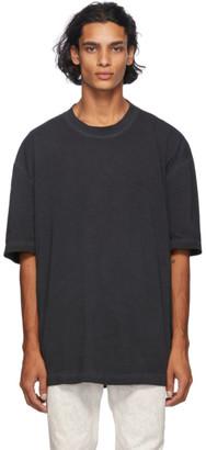 Maison Margiela Black Resin Garment-Dyed T-Shirt