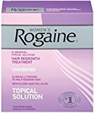 Rogaine Only FDA-approved topical solution to regrow your hair. for Women Hair Regrowth Treatment, 2 Ounce (Pack of 3)