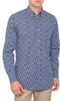 Paul & Shark Long Sleeve Small Flower Print Shirt
