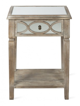 Home & Giftware Lattice Mirrored Side Table