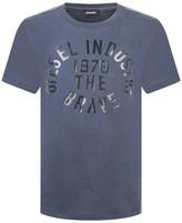 Diesel Boys Navy Cotton Branded Top