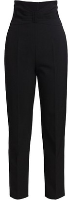RED Valentino High-Waisted Stretch-Wool Cropped Pants