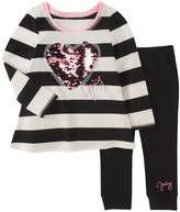Juicy Couture Sequined Heart Top and Leggings Set