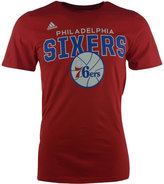 adidas Men's Short-Sleeve Philadelphia 76ers Straight To The Hoop T-Shirt