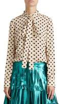 Burberry Silk Polka Dot Blouse