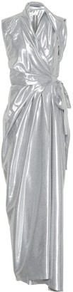 Rick Owens Metallic silk-blend midi dress