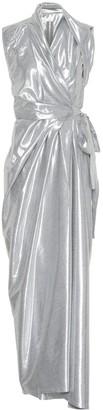 Rick Owens Metallic silk-blend midi dress