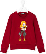 DSQUARED2 sweatshirt with doll appliqué