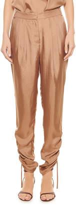 Tibi Mendini Pleated Twill Easy Pants