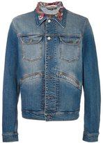 Roberto Cavalli embroidered collar denim jacket