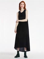 CK Calvin Klein Sheer Silk Long Dress