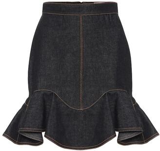 Alexander McQueen Denim miniskirt