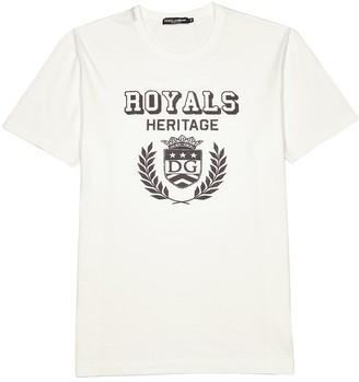 Dolce & Gabbana White printed cotton T-shirt