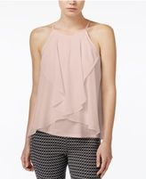 Bar III Sleeveless Draped Top, Only at Macy's