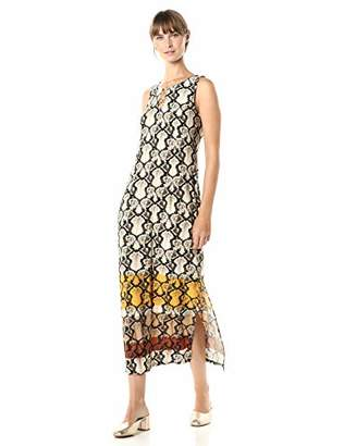 MSK Women's Sleeveless Three Ring Maxi Dress