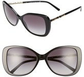 Burberry Women's 57Mm Butterfly Sunglasses - Black