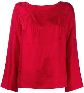 Hermes Pre-Owned Bridle Jacquard Blouse