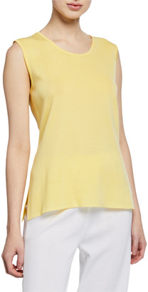 Misook Plus Size Scoop-Neck Solid Knit Tank