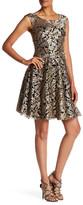 Vera Wang Sleeveless Metallic Lace Gown