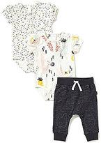 Petit Lem Baby Girls 3-24 Months Cactus Print Bodysuit, Arrow-Print Bodysuit, and Pants 3-Piece Set