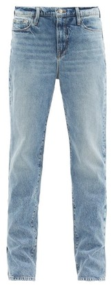 Frame Le Drew Pleated-seam Straight-leg Jeans - Denim