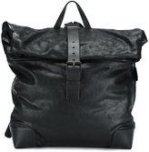 Giorgio Armani buckle flap backpack