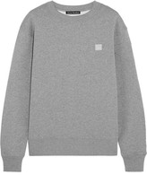Acne Studios Fairview Appliquéd Cotton-jersey Sweatshirt - Light gray