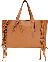 Valentino Women's C-Rockee Fringed Tote-BROWN
