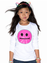 LittleMissMatched White & Hot Pink Long Sleeve Zip It Tee
