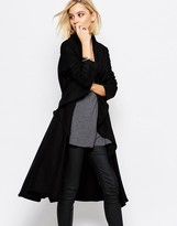 Religion Freedom Black Wool Coat