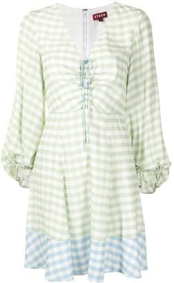 STAUD Gingham Print Dress
