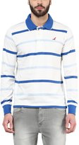 American Crew Men's Polo Collar Stripes T-Shirt -XXL (AC067FS-XXL)