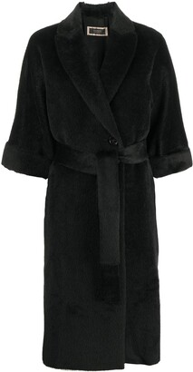 Peserico Double-Breasted Woven Coat