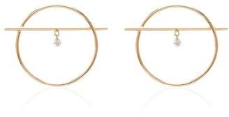 PERSÉE 18K Yellow Gold Ring Diamond Earrings