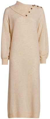 By Ti Mo Teddy Knit Merino Wool-Blend Sweater Dress