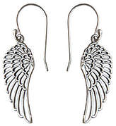 Novica Artisan Crafted Sterling Dangle Wing Earrings