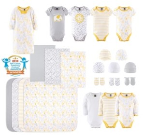 The Peanut Shell The Baby Boys and Girls 23 Piece Sunshine Jungle Layette Set