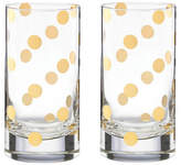 Kate Spade New York Set of Two Pearl Place Highball Glasses